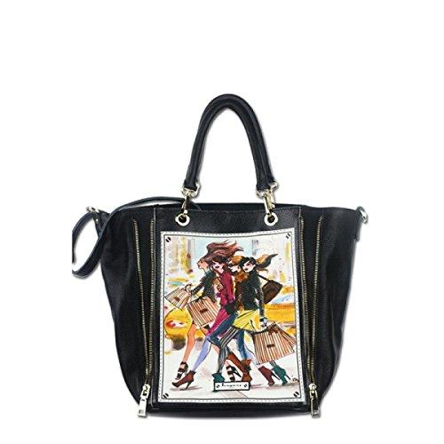 6695ac0580 PACK Borse Shopping Girl Stampa Borsa In Spalla Di Cuoio Il Primo Strato Di  Borse In