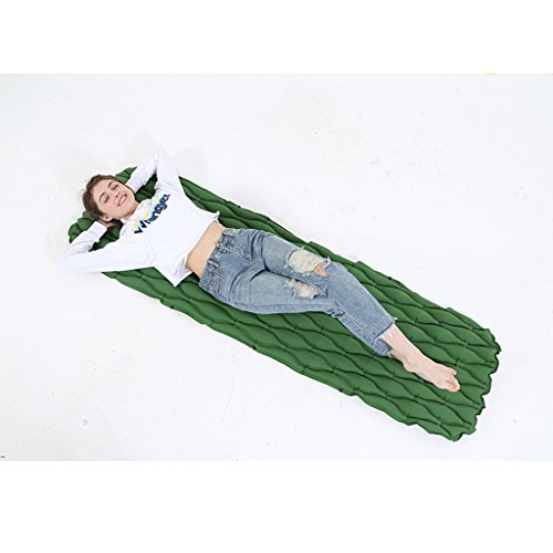 Bed-lss alxc- materasso, materassino gonfiabile portatile all'aperto primavera tour camping picnic beach carpet tenda sleeping pad (colore : green)