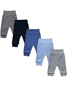 MEA BABY Unisex Baby Hose aus 100% Baumwolle im 5er Pack/Pumphose. Babyhose für Jungen Baby Hose für Mädchen,...