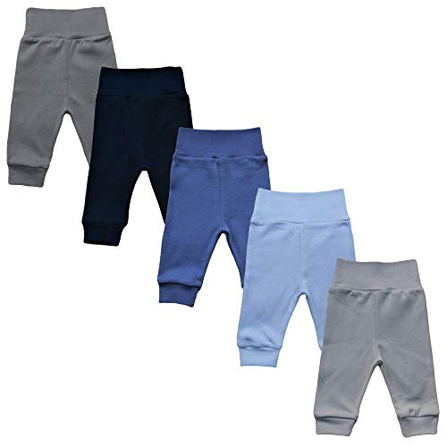 MEA BABY Unisex Baby Hose aus 100% Baumwolle im 5er Pack/Pumphose. Babyhose für Jungen Baby Hose für Mädchen, Schlupfhose (74, Jungen)
