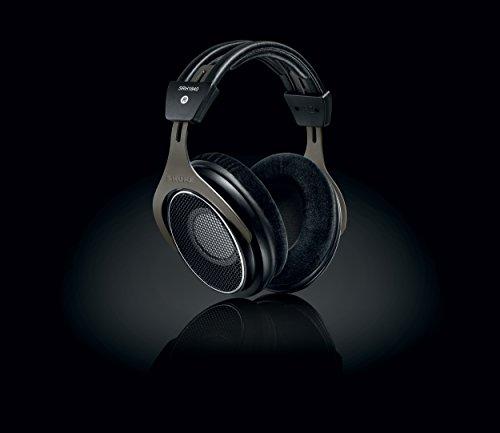 Shure SRH1840, offener Kopfhörer / Over-ear, schwarz/silber, High-End, geräuschunterdrückend, Kabel austauschbar, Velourpolster, natürlicher Klang, erweiterte Höhen, akkurater Bass, gematchte Wandler - 2