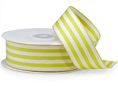 Apple Cabana Stripes Ribbon1-1/2 inch X25 Yds 100% Nylon