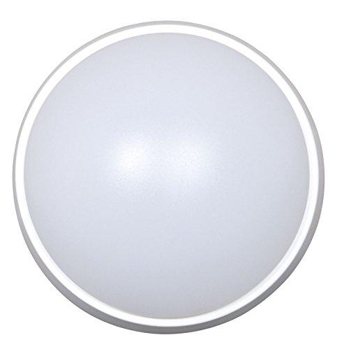 Tibelec 342010 Hublot LED Rond, Plastique, 10 W, Blanc, 80 x Ø 215mm