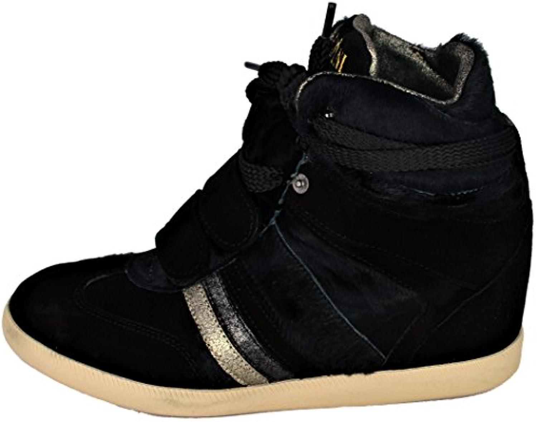 quality design c3201 49181 Serafini Scarpa Zeppa Zeppa Zeppa Donna Nero scarpe da ginnastica Woman  nero-40 066110