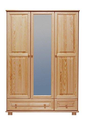 Kiefer-Kleiderschrank A-Qualität, Farbe: Natur 190x133x60 cm
