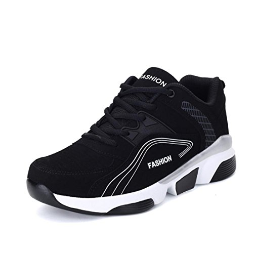 Men's High Quality Zapatillas Deportivas Hombre Running Shoes Black White