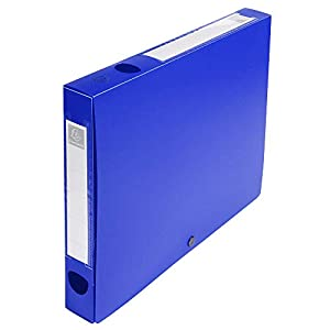 Exacompta 54632E Opaque PP Filing Box, 40 mm Spine, A4 - Blue