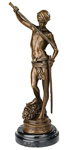 aubaho Bronze David Kampf Goliath Bronzeskulptur Bronzefigur Skulptur Figur Antik-Stil