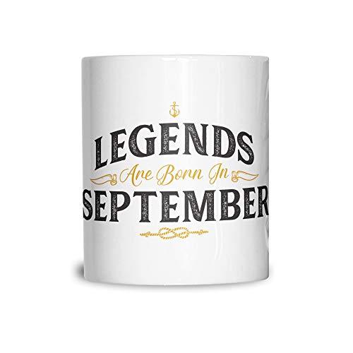 Tim And Ted Geburtstag Keramikbecher Legenden Sind Geboren im September White 11OZ