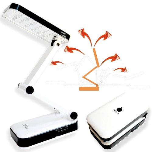 DP led-666–Luz LED–lámpara de escritorio–24LEDs–recargable multiposición, plegable portátil Desktop Lamp–led-666