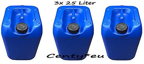 3x Kanister 25 Liter blau Vorratsbehälter Öl Diesel Benzin Heizöl Laugen 25L Floss