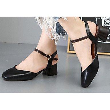 Rtry Femmes Chaussures Microfibre Synthétique Pu Printemps Été Confort Avec Casual Robe Talons Noir Gris Us6.5-7 / Eu37 / Uk4.5-5 / Cn37