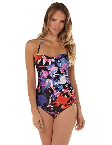 Seaspray 16-1316 Women's Rio Black, Red and Blue Floral Tankini Top 36 EU (Rio Blue Tops)