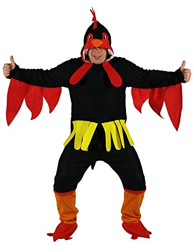 Foxxeo schwarzes Hühner Kostüm für Erwachsene in Größe -