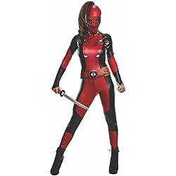 Deadpool traje para las mujeres 3 piezas de cinta mono máscara roja Marvel - M