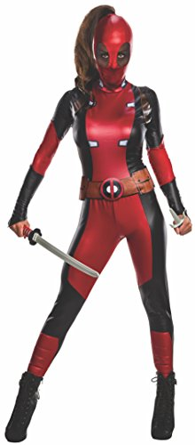 Rubie's 810984S Deadpool Kostüm Damen, Mehrfarbig (Marvel Comic Fancy Dress Kostüme)