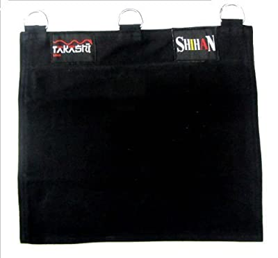 Kung Fu Wall Punch Bag Canvas 1 Section - Black - low-cost UK light shop.