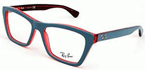 New Original Eyeglasses Ray Ban RB 5316 5388 Unisex Red, Grey Square