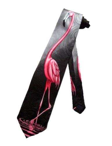 Steven Harris Männer pink Flamingo Vogel Krawatte - schwarz - Einheitsgröße (Vogel Krawatte)
