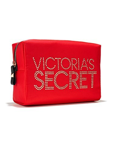 Victoria Secret Studded Cosmetic Case Red