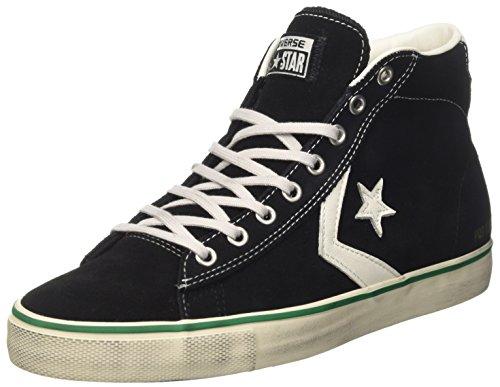 Converse 158935c, sneaker a collo alto uomo, nero (black/s.white/a.green), 42 eu