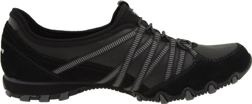 Skechers Bikers Dream-Come-True Damen Sneakers Schwarz (Bkcc)