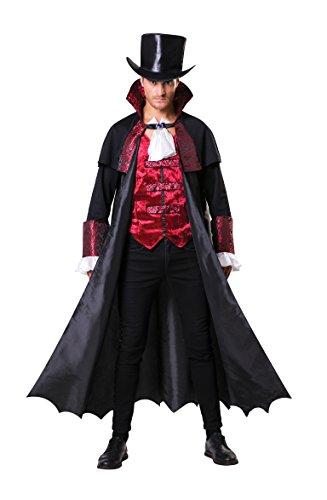 Bristol novità AF100Vampire count costume, da uomo, nero/rosso/bianco, taglia unica