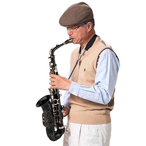 Hehilark Professionelle Saxophon Eb ALTO Set Instrument der Körper unter buradero + Tuner + Case + Buch (Dunstabzugshaube Professionelle)