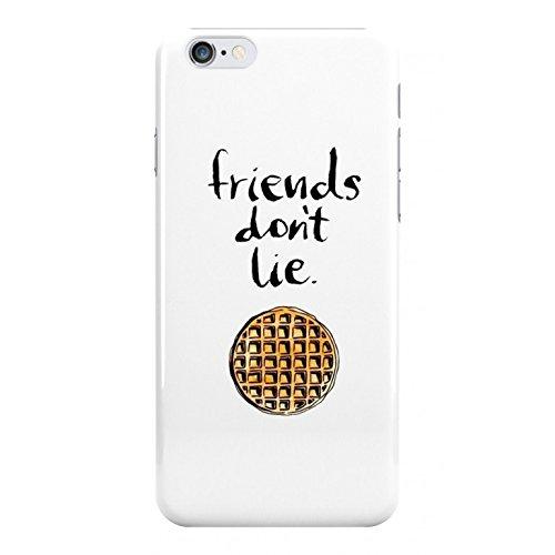 iPhone Kunststoff Schutzhülle von Stranger Things Friends Don 't Lie TV Serie, weißer Hintergrund.