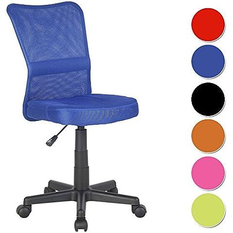 SixBros. Sedia ufficio sedia girevole blu - H-298F/2065