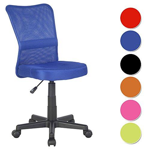 SixBros. Bürostuhl Drehstuhl Schreibtischstuhl Blau - H-298F/2065