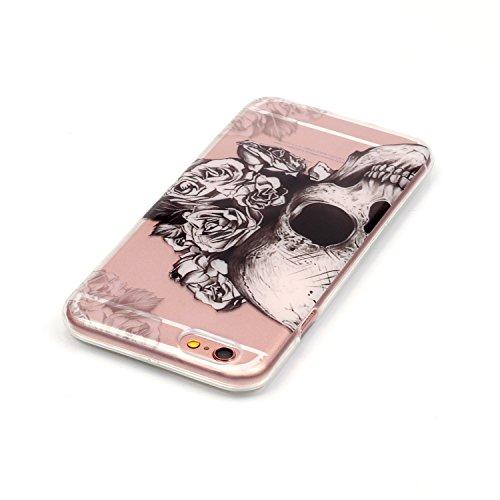 Cozy Hut ® für iPhone 6 Plus / 6S Plus (5,5 Zoll), Schutzhülle / Case / Cover / Hülle / TPU Gel Skin Colorful Pattern Bunte Muster Kunststoff Serie für iPhone 6 Plus / 6S Plus (5,5 Zoll) Hülle Beutel  Schädel