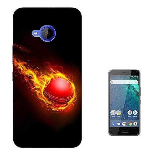 003576 - Fire Cricket Ball Design HTC U11 Life 5.2