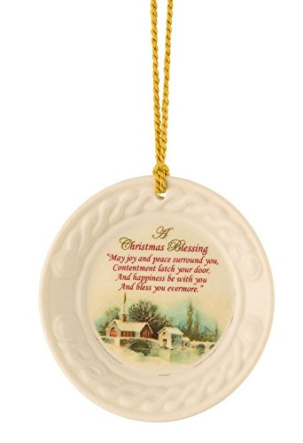Belleek Weihnachten Szene Ornament