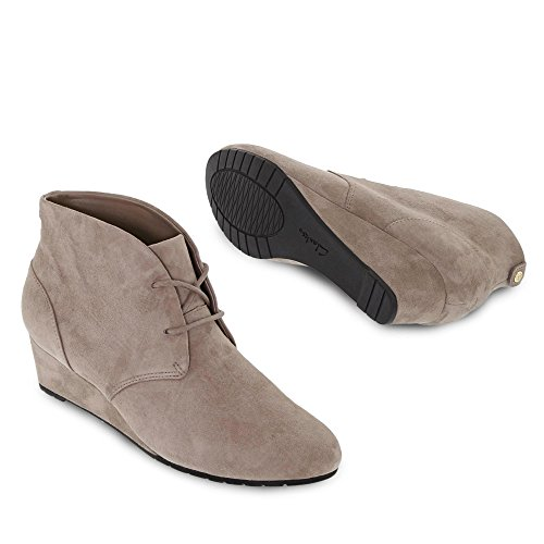 Clarks Vendra Peak Keilstiefelette Braun (Ebony Leather)