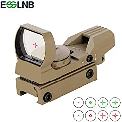 ESSLNB Viseur Point Rouge 4 Réticule 5 Luminosité Réglages Lunette de Visee avec Montage sur Rail Picatinny 20mm / 22mm Imperméable Antichoc