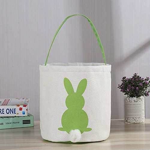 Pingtr - Ostereikorb Urlaub Kaninchen Hase gedruckt Leinwand Geschenk tragen Eier Candy Bag