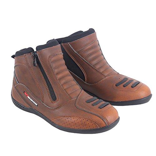 Street Touring Botas de Moto Cuero Transpirable diseño Vintage Botines Biker Zapatos...