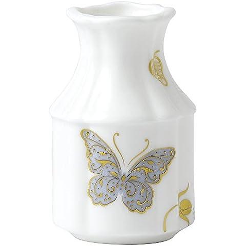 Royal Crown Derby-Vaso con farfalle, fantasia: primule, colore: blu