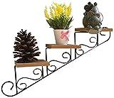Fiore del Basamento della pianta del Fiore Stand impianto Espositore in Legno Coperta da Parete Pieghevole Fiore Bagagli Shelf Mini Cactus