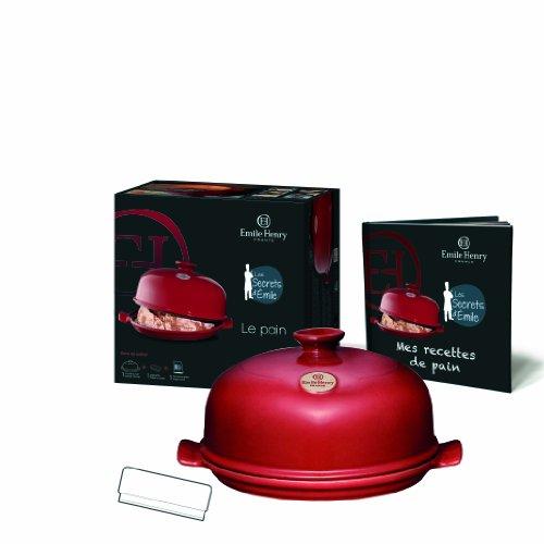 Emile Henry EH619108 Secrets D'Emile Brot Set, Rouge-Flame
