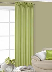 140x245 cm grün Vorhang Vorhänge Kräuselband Fensterdekoration Gardine Blickdicht green LUNA