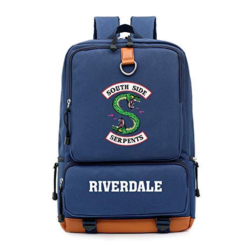 Memoryee Unisex Beiläufig Schulrucksack Riverdale Southside Serpents Gedruckt Laptop Rucksack Multifunktions Tagesrucksack Buch Schulranzen Wandern Tasche Marine -