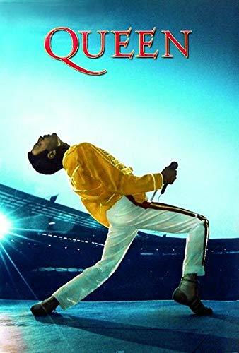 Close Up Poster Queen Live at Wembley (61cm x 91,5cm) + 2 tringles Noires avec Suspension