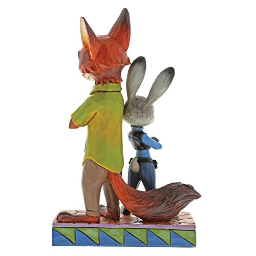 Disney Traditions Partners in Crime Fighting Judy and Nick Figurine, Resin, Multi-Colour, 120 x 70 x 190 cm