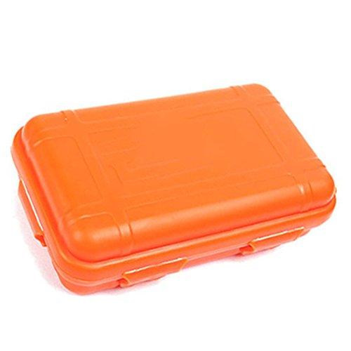NoyoKere Outdoor Shockproof Wasserdichte Kunststoff Box Aufbewahrungskoffer Luftdichte Box Carry Camping Tackle Werkzeug Container Orange