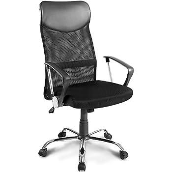 Bürosessel netz  Bürostuhl Chefsessel Ergonomisch Netzstoff Wippfunktion in Schwarz ...