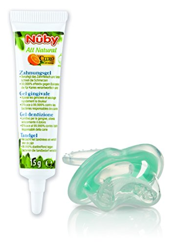 Nuby CG23015ARENPOSP Gel Dentición Citroganix Gum