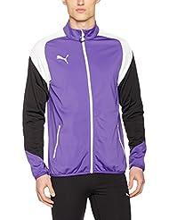 Puma Esito 4Poly tricot Jacket Chaqueta, primavera/verano, hombre, color prism violet-puma white-ebony, tamaño L