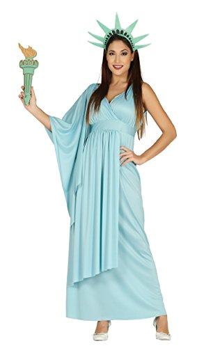 Liberty Kostüm - Guirca-Kostüm Erwachsene Statue, Größe 42-44(88243.0)